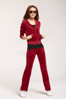 Women Long Sleeve Regular Onsale Korean Style Fashion Sweat-Suit for Femail,Women's Tracksuit in wine red,Velvet emboitement
