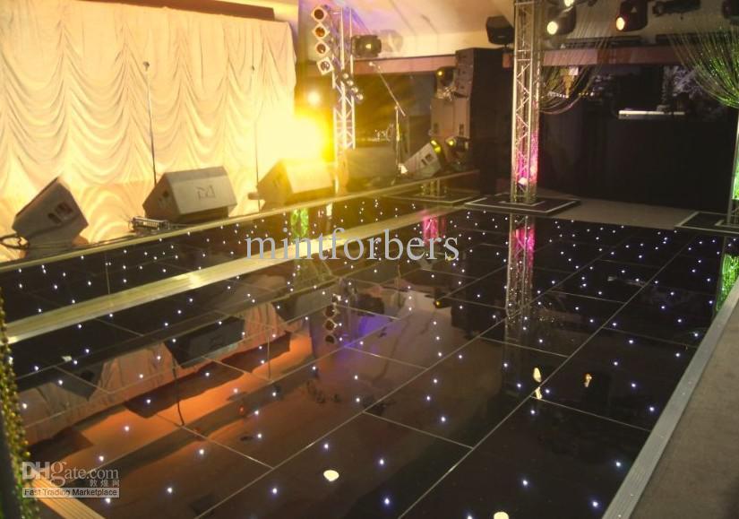 Led Dance Floor Black Starlit Twinkle Dj Party Stage