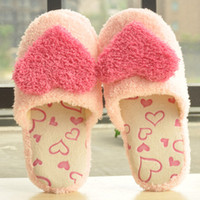 Wholesale lady s Cartoon coral fleece home shoes indoor slip resistant candy color cotton padded slippers
