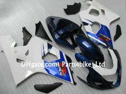 blue white ABS Racing fairing kit for SUZUKI 2004 2005 GSXR 600 750 K4 GSXR600 R750 04 05 moto parts