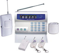 Wholesale GSM alarm system with LCD screen Auto Dial for Home Security wireless zones