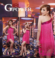Wholesale 2012 new Latin oblique fringed sequined dress nightclubs DS costumes fashion stage dance clothes