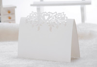 Wholesale Laser cut flower paper table card name card for party wedding place card decorate