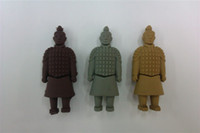 Wholesale cute cartoon terra cotta bodys U disk USB Flash memory Drive GB Full Capacity Original chip