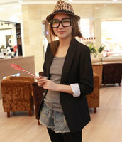Wholesale 2016 Boys Suits for Weddings Blazers for Boys New Fashion Women s Lady s Spring And Autumn Candy Color Lining Stripe Slim Blazer