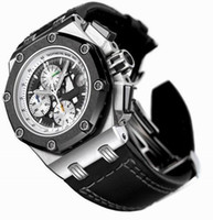Sport Men's Chronograph Luxury Mens Chronograph Watch Steel Date Royal Rubber Men Offshore Sport Men's Black Leather Watches