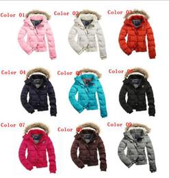 Wholesale 2013 HOT Women s AE Street Fashion Down Coat Jacket Winter parka Fur Hooded Down Hoodies Outerwear