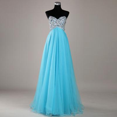 Cheap Wedding Dresses Discount Blue Bridal Chiffon Wedding Dresses Gown Prom Evening Online with