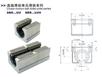 Wholesale SBR20UU CNC Linear Ball Bearing Support Unit pillow blocks hot