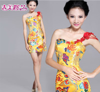 Wholesale In Stock Special Occasion Dresses chinese dress one shoulder sexy new arrivel