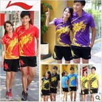 li ning - a set li ning womens or Men s table tennis shirt shorts ping pong shirt table tennis