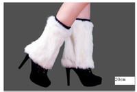 Wholesale warm rabbit fur leg warmers feet shoes many colors