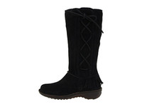 Wholesale Women Boots Classic Tall Boots Sheepskin Snow Boots Black Designer Shoe Lace up for Xmas