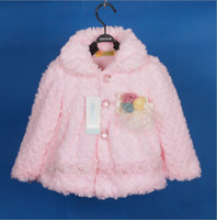 Wholesale children girl winter coat fleece sweater hoody baby warm overcoat jacket children clothing bc