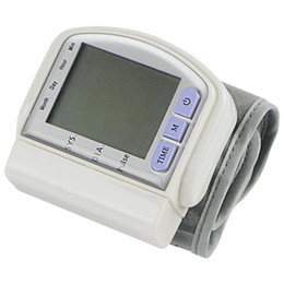Wholesale LCD Digital Wrist Blood Pressure Monitor Heart Beat Meter Memory Y3002B