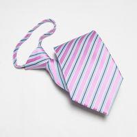 Wholesale Mens Imitated Silk Necktie men tie zipper tie men s neck ties striped waterproof handmade