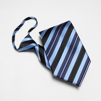 Wholesale men s neck ties striped necktie waterproof zipper tie convenient ascot neck tie handmade