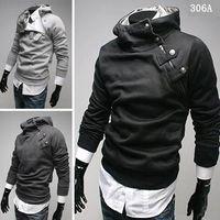 Wholesale Chrismas Hot Mens Coat Slim Fit Thick Winter Fur Collar Hoodie Coats Slant Zipper Metal Buckle XS S M L XL Warm Jackt For Men