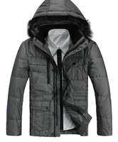 Wholesale Hooded Casual Mens Down Jackets Thicken Winter Coat White Duck Down Men Down Jackets Piece