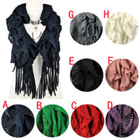Wholesale Mixed scarves alloy and resin jewelry pendants winter scarfs for women neckerchief cape scarf colors NL