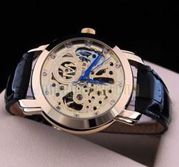 Compra Online Los mejores relojes de moda de calidad-Relojes ENVÍO GRATIS mejores deportes de calidad de los hombres automáticos calientes del reloj de pulsera de cuero de moda reloj reloj mecánico de los hombres del estilo de relojes de lujo