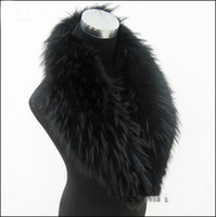 Wholesale New Real Raccoon Fur Collar Women s Neck Warmers Fur Scarf Big size Fur Down Coat