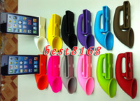 For Apple iPhone amplifier horn - Silicone soft Horn Stand Speaker Amplifier portable case skin cases for iphone th G S S G