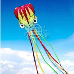 Free Shipping!!hot sale 5.5 m single Line Stunt color Octopus POWER Sport Kite