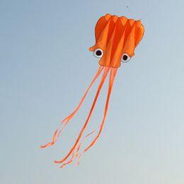 Free Shipping! 5.5 m single Line Stunt red Octopus POWER Sport Kite