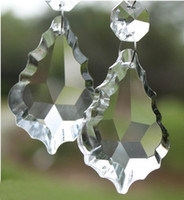 crystal glass - MIC A Grade Clear Crystal Glass Faceted Chandlier Lamp Pendant Findings Beads