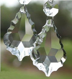 Wholesale MIC A Grade Clear Crystal Glass Faceted Chandlier Lamp Pendant Findings Beads
