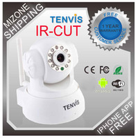 Wholesale TENVIS Wireless Pan Tilt IP Camera Night Vision Surveillance Camera Way Audio IR CUT