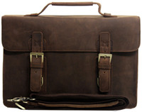 Wholesale HK POST Men s genuine Leather satchel Briefcase Messenger shoudler Tote handbag