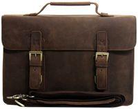 Wholesale HK POST Men s genuine Leather satchel Briefcase Messenger shoudler Tote handbag