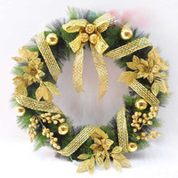 Wholesale Cheap cm christmas garland beautiful flowers ring chiristmas decorative Wreath outdoor decorations