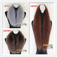 Wholesale New arrival Fashion Real Fox Fur Collar Neck Warmers Fur Scarf Shawl For Down Coat