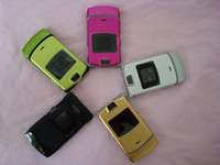 Wholesale Refurbished RAZR V3 Unlocked Quad Band Mobile Cell Phone Best Quality DHL