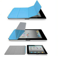 Wholesale Hot sale Magnetic Smart Cover Ieather Case For IPad2 Ipad3 Sleep Wake china post pc