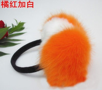 Wholesale New Winter Imitation fox fur earmuffs black earmuff cute plush warm earmuff colors xk109