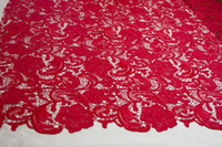Wholesale embroidery dress fabric cm Red fashion hot sale water souble embroidery fabric lace