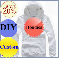 Yes 100 cotton white t shirt - Custom made hoodies DIY pullover t shirts HOODY White Red Blue Grey Black Cotton