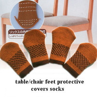 Wholesale Double layers weave table chair feet protective covers socks foot pad