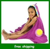 Wholesale Kids Animal Baby hooded bathrobe towel bath terry children infant bathing robe gifts