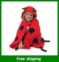 Wholesale baby hooded bathrobe Cartoon bee bath towel terry robe children kids infant gifts fast