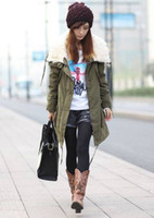 Women Full_Length Cotton Korea Fashion Women Warm Long Sleeve Zip Fleece Winter Coat Outwear Parka