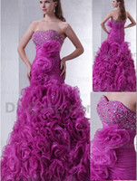 Actual Images prom dresses 2012 - 2012 Evening Dresses New Strapless Sweetheart Charming Beaded Ruffles Party Prom Dresses DH00235