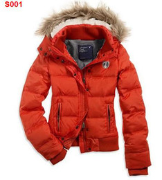 Wholesale NWT AE Womens Orange HOODED PUFFER Coat Jacket Womens Down Coats PPY