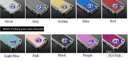 2017 diamond glitter chrome iphone Luxury Glitter Diamond Chrome Rhinestone Hard Case Bling Cover for iphone 4 4S 4G 10colors