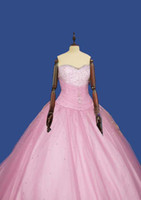 Wholesale Hot sale Low Price Pink color Prom Dresses Evening Dresses Romantic wedding gown