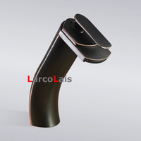 Wholesale Solid Brass Water Tap quot Waterfall Modern Bathroom Mixer Tap Vanity Vessel Sink Faucet Tall Oil Rubbed Bronze ORB Tap New